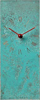 12-inch Turquoise Copper Rustic Farmhouse Decor Gift Wall Clock - Silent Non Ticking for Home/Office/Kitchen/Bedroom/Living Room/7th Anniversary