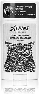 Alpine Provisions Charcoal Deodorant - Cedar + Sandalwood