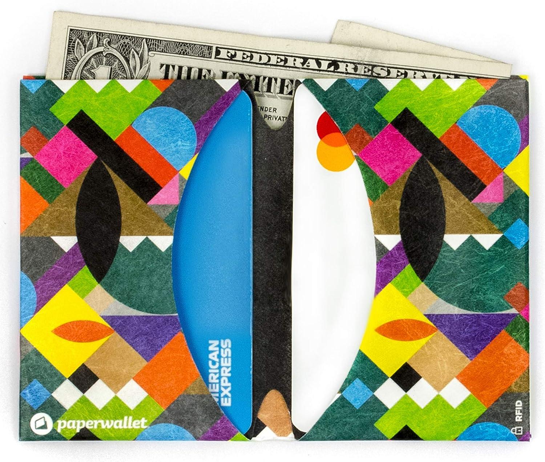 Paperwallet - Minimalist Micro Ultra Thin Bifold Front Pocket Wallet RFID Blocking (Brooklyner)