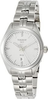 Tissot Women's White Dial Stainless Steel Band Watch - T101.210.11.036.00, Analog Display, Quartz Movement