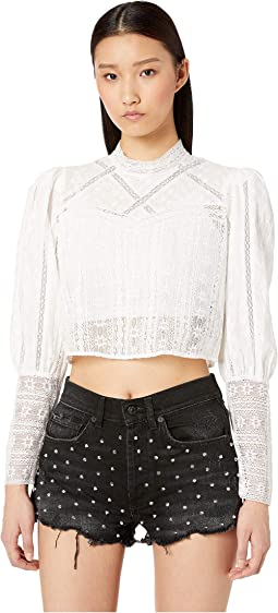 4173dd38e4115 The kooples long sleeve lace top