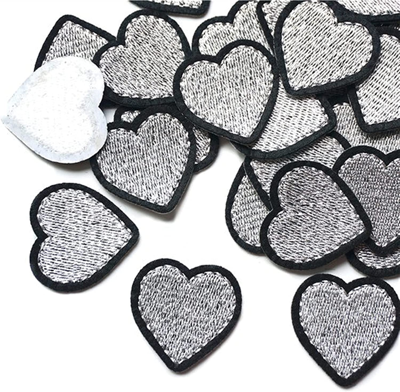 WCNMB Applique 10PCS Max 48% OFF 3.2cm x Hearts Shape Columbus Mall Embroide Patches