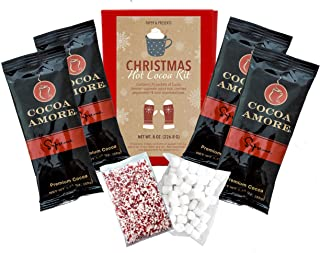 Christmas Hot Chocolate Gift Set With Marshmallows and Peppermint