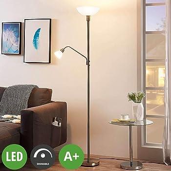 Moderne Stehlampe E14 LED Metall Modern silber Wohnzimmer