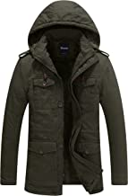 Wantdo Men's Winter Thicken Puffer Coat with Removable Hood Jacket
