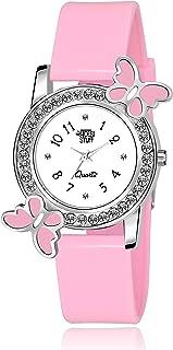 Swadesi Stuff Analog White Dial Diamond Studded Butterfly Watch for Girls & Women