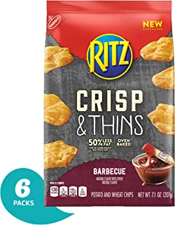 Ritz Crisp & Thins Barbecue Chips, 6 Pack