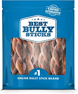 Best Bully Sticks All-Natural Braided Bully Sticks - Promotes Dental Health - Healthy Alternative to Rawhide
