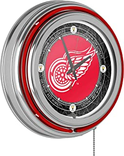 Vintage Detroit Redwings174; Neon Clock - 14 inch Diameter