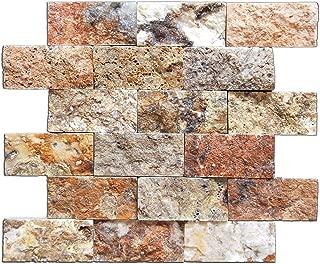 2 x 4 Scabos Split Face Travertine Mosaic tiles