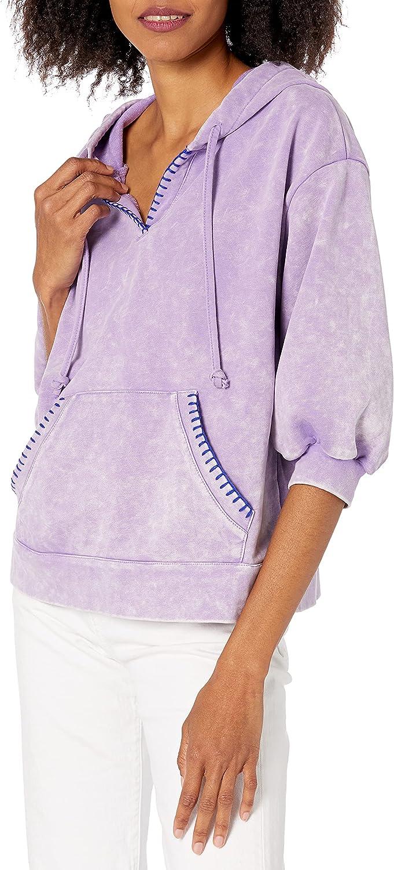 KENDALL + KYLIE Women's Blanket Stitch Hoodie