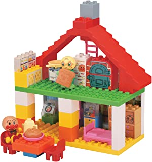 ブロックラボ アンパンマン おおきなパン工場とすてきなおうちブロックバケツ (ワールドブロックシリーズ)
