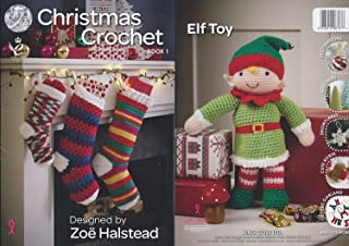 King Cole Christmas Crochet Book 1 - Festive Xmas Decorations Advent Calendar Stocking Patterns by King Cole