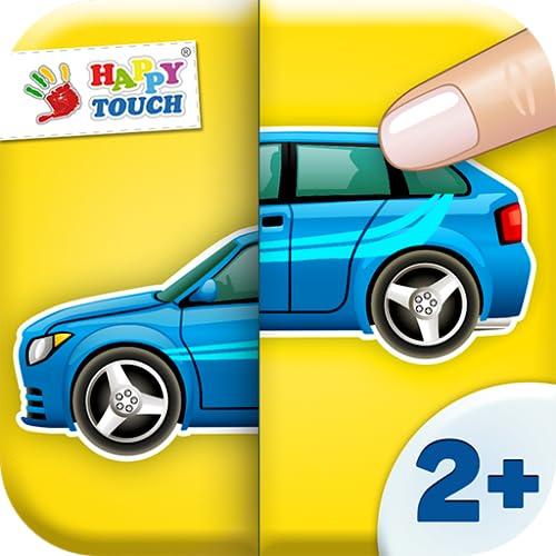 Kinder Spiele - Auto Memo Puzzle Spiel - für Kinder (2+)