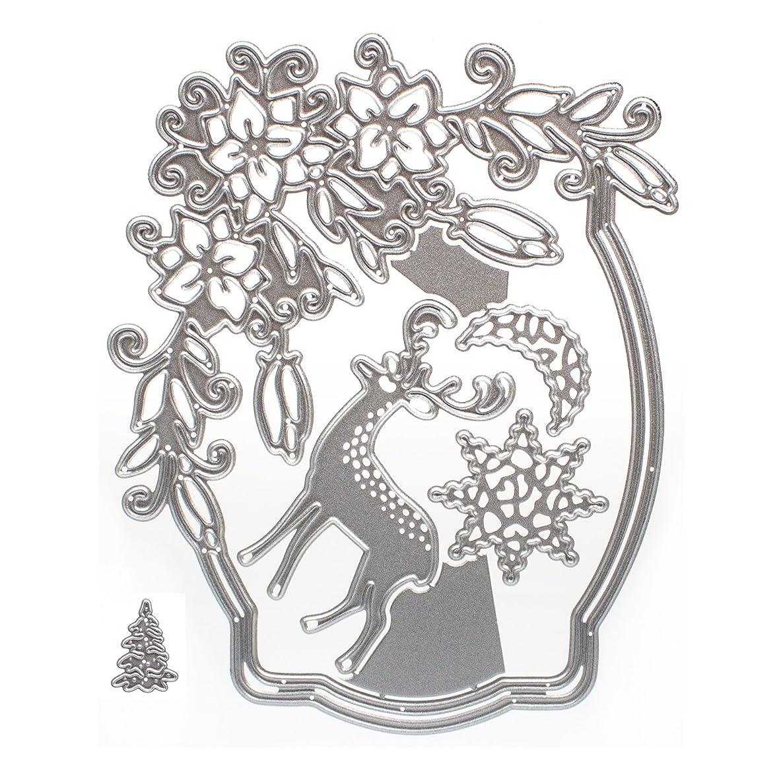 DIY Scrapbooking Photo Album Paper Card Craft Christmas Eve Embossing Metal Cutting Dies(Christmas Eve)
