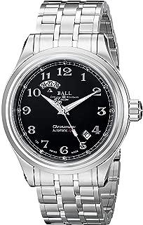 Ball Men's GM1020D-SCJ-BK Train Cleveland Analog Display Swiss Automatic Silver Watch