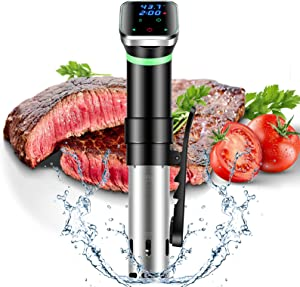 Sous Vide and Precision Cooker, 1100W Immersion Circulator with SUS304 Stainless Steel Components,Digital Interface,Ultra-quiet, Temperature and Timer for Kitchen