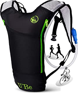 U`Be Hydration Pack Water Backpack - Kids Women Men Camelback - Hiking Biking Running Bag with 2L Bladder