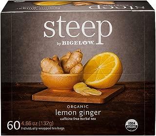 Bigelow Organic Steep Lemon Ginger Tea (60 ct.) AS.