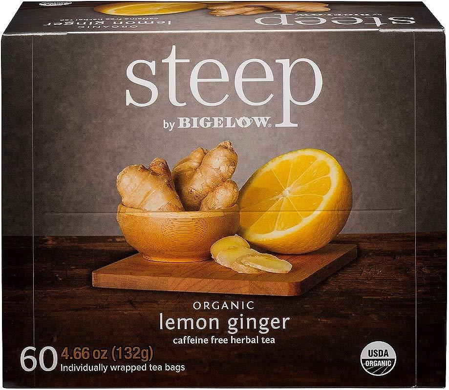 Bigelow Organic Steep Lemon Ginger Tea 60 Ct AS