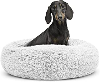 The Dog's Bed Sound Sleep Calming Donut Dog Bed (XS to XXL) The Original Anxiety Reducing Plush Shag Fur Nest Dog Bed (for...