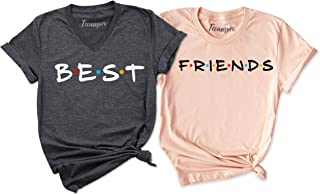 TEEAMORE Best Friends T-Shirts for Two Cute Matching BFF Shirts BFF Tees Birthday Gift