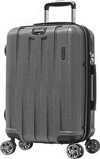 "Olympia Luggage Sidewinder 21"" Exp. Carry-On Spinner (8-Wheel) w/TSA Lock, GRAY"