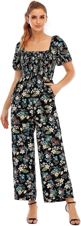 現品 Women's Summer Floral Lantern Sleeve Tube Wide Waist OUTLET SALE Top High Le