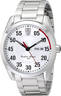 Men's 0830178 D 50 Analog Display Quartz Silver Watch