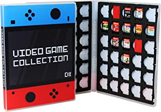 UniKeep Game Case for Nintendo Switch Cartridges - Holds 60 Games Securely in Foam (Blue/Red)