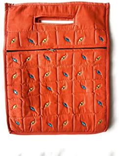 NavRup HandWorks Eco Friendly Cotton Mirror Handwork Carry Bag for Men and Women