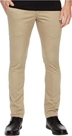 Skinny Straight Fit Work Pants