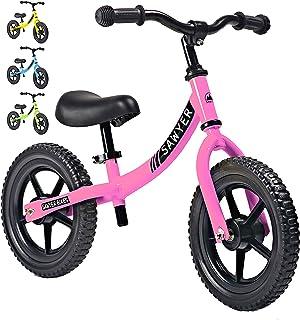comprar comparacion Sawyer - Bicicleta Sin Pedales Ultraligera - Niños 2, 3 y 4 Años (Rosa)
