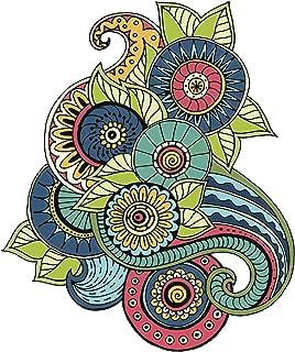 Divine Designs Colorful Paisley Mandala Flower Arrangement Icon Vinyl Decal Sticker (4