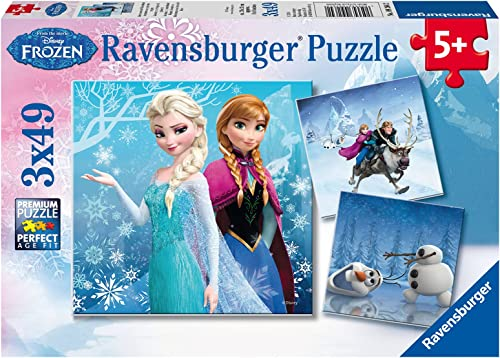 Ravensburger - 09264 - Puzzle Enfant Classique - La Reine Des Neiges Aventures - 3 x 49 Pièces