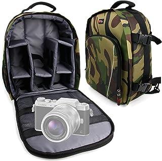 DURAGADGET Mochila Camuflaje con Compartimentos Desmontables para Cámara Lumix GF8 | DMC-FZ300 | Nikon Coolpix B500 | B700 Bridge | Pentax K-1 SLR + Funda Impermeable