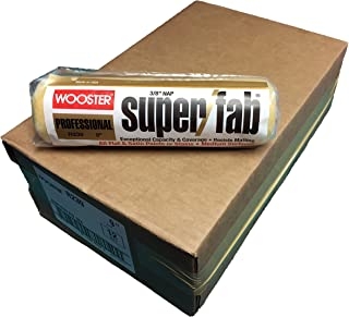 Wooster Brush R239-9 Super/Fab Roller Cover, 3/8-Inch Nap, Pack of 12