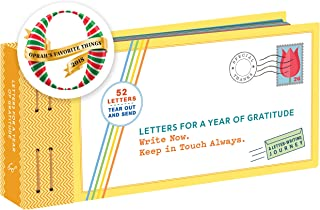 Letters for a Year of Gratitude: Write Now. Keep in Touch Always. (Gratitude Cards, Memory Book, Book of Kindness)