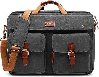CoolBELL Convertible Messenger Bag Backpack Laptop Shoulder Bag Business Briefcase Leisure Handbag Multi-functional Travel Bag Fits 17.3 Inch Laptop For Men/Women/College, Grey