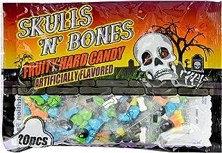 Greenbrier (1) Bag Skulls 'N' Bones Fruity Hard Candy - 20 Individual Halloween Candy Packets per Bag - Net Wt. 3.53 oz