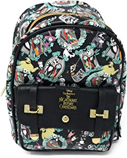 Nightmare Before Christmas 10 Faux Leather All Over Print Backpack - 16018