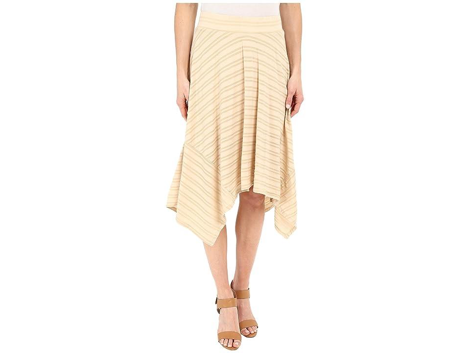 Mod-o-doc Tonal Tencel Stripe Handkerchief Stripe Skirt (Beach Grass) Women