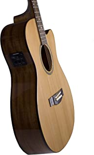 Teton Acoustic Electric Cutaway Grand Concert Solid Cedar Top Mahogany Back and Sides STG105CENT