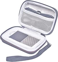 Rancco Trave Case for WD My Passport SSD 512GB/256GB/1TB/2TB Portable Storage(Old and New Generation), WD My Passport Solid State Drive Protective Carrying Storage w/Cable Organizer Pouch(5.1x3.5x2in)