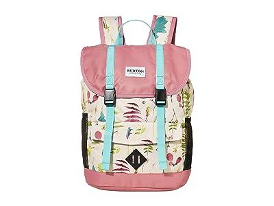 Burton Kids Outing 17L Backpack (Little Kids/Big Kids) (Creme Brulee Oakledge Floral) Backpack Bags