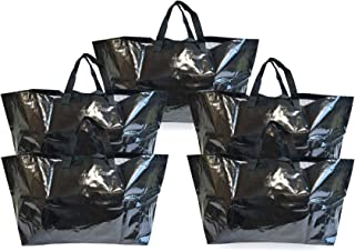 Giant Reusable Tote Bags for Carrying Bulk Items, Extra Large Shopping Bags, Heavy Duty Wipeable & Water Resistant for Mov...