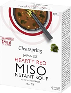 (6 PACK) - Clearspring Instant Miso Soup - Red Sea Vegetable| (10 x 4) (gx) |6 PACK - SUPER SAVER - SAVE MONEY