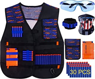 KOSIN Tactical Vest Kit for Nerf Guns N-Strike Elite Series for Boys and Girls 1 Pack and 2 Pack