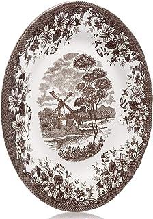 Claytan Windmill brown Dinner Plate 26 Cm