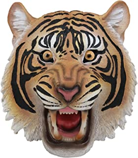 Ebros Roaring Fearless Orange Bengal Tiger Head Wall Decor Plaque 8.5